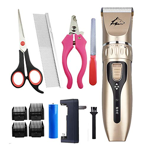 ExcLent Electric Pet Dog Cat Hair Grooming Trimmer Razor Shaver Naillow Noise Clipper