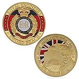 JIACUO Royal Engineers Schwert Strand Vergoldet Gedenk Herausforderung Münzen Souvenir -
