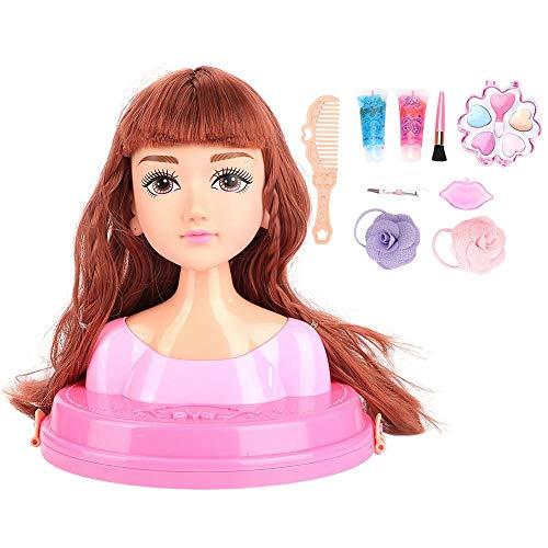 Kind Pädagogisches Spielzeug Mädchen Kämmen Haar DIY bilden Perücke Abnehmbare Spielzeugpuppe Geburtstagsgeschenke(01) (Haare Diy Kämmen)