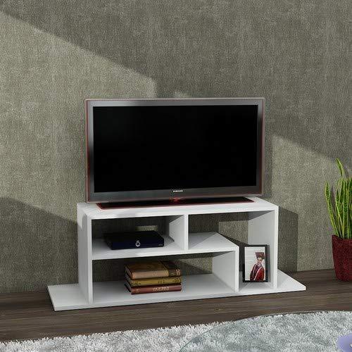 Wohnwand Anbauwand TV Medienwand Wohnwandkombi Lowboard FAGUS in Weiß 1933 - 2