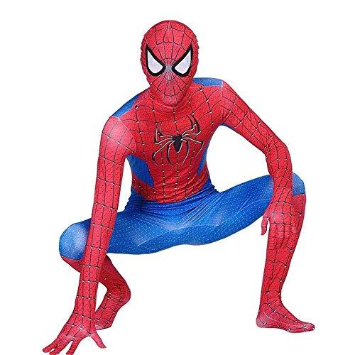 SDFXCV Kinder Erwachsene Cosplay Weit Von Zu Hause Spiderman Kostüm Ganzkörper Halloween Anzug Film Kostüm Body Superheld Set Kostüm,Adult-XXXL(Height69-71Inch)