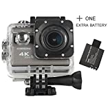 ICONNTECHS IT 4K Ultra HD Wasserfeste Sport-Actionkamera, 170° Weitwinkellinse, Full HD 1080P WiFi...