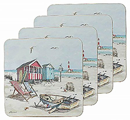 Sandy Bay Set of 4 Coasters by Macneil Studio