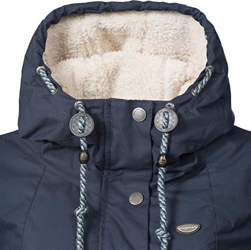 Ragwear Damen Winterparka Winterjacke Monade Navy018 Gr. S - 5
