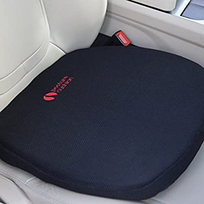 Posture Cushion - Super Thick Gel Feel Seat Cushion. Great For Modern Harder Car Seats. Prevent The Pain And Stiffness In Your Legs And Back When Sitting In The Car Home And Office. Available With Black Breathable Cover And Anti Slip Base. Great Quality A