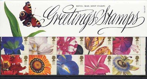 royal-mail-timbres-de-1997-fleurs-bote-de-prsentation-incluse