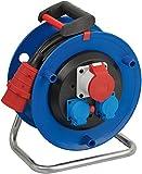 Brennenstuhl Garant CEE 1 IP20 Kabeltrommel (30m - Spezialkunststoff, Einsatz im Innenbereich, Made In Germany) blau