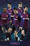 Close Up FC Barcelona Poster Mannschaft Saison 2018/2019