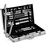 VonHaus 24-piece BBQ Utensil Set - Stainless Steel...