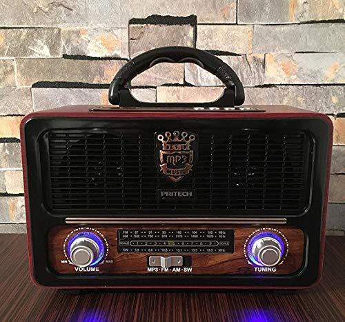 Radio Altavoz Bluetooth PRITECH MP3 SD AUX Luz Estilo Vintage