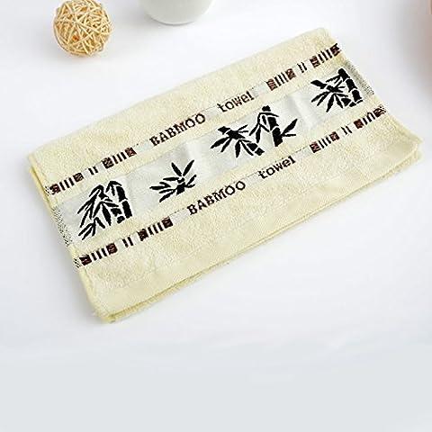 Lugii Cube lisse et douce Serviettes en fibre de bambou 35,6x 76,2cm Coton absorbant Serviette de toilette Serviette de gym Serviette de bain Toilette Gants de Toilette, Blanc