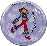 60x Groovy Chick Bang on the Door 22cm Paper Plates, Party Plates