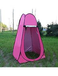 asdomo al aire libre portátil Pop Up privado para inodoro tienda de campaña Camping playa instantánea ducha cambio vestidor Tent, Rosa roja