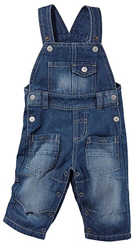 LUPILU® Baby Kinder Jungen Mädchen Latzhose (blue denim, Gr. 62)