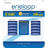 Panasonic BK-3MCA10BCA Eneloop AA 2100 Cycle Ni-MH Pre-Charged Rechargeable Batteries (Pack 10)
