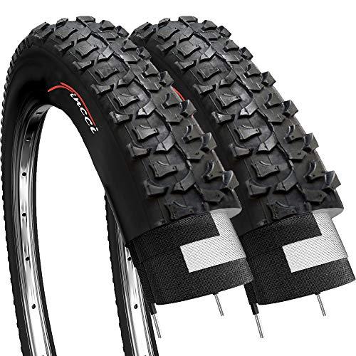 Fincci Coppia 20 x 1,75 Pollici 47-406 Pneumatici Copertone per BMX MTB Montagna Fuori Strada o Bambini Bici Bicicletta (Confezione da 2)