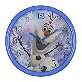 Disney Frozen Girls-Children's Olaf 25cm Blue Wall Clock The Ideal Gift For Her