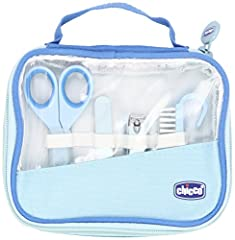 Idea Regalo - Chicco 00010019000000 Igiene e Benessere Set Manicure Bambino, Blu