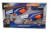 Nerf N-Strike Elite Disruptor, Pack de 2 Pistolas con Capacidad de 6...