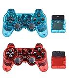 Dskop - Mando a Distancia inalámbrico con Bluetooth Compatible con PS2 Playstation 2 Double Shock