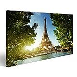 islandburner Bild Bilder auf Leinwand Eiffelturm, Paris