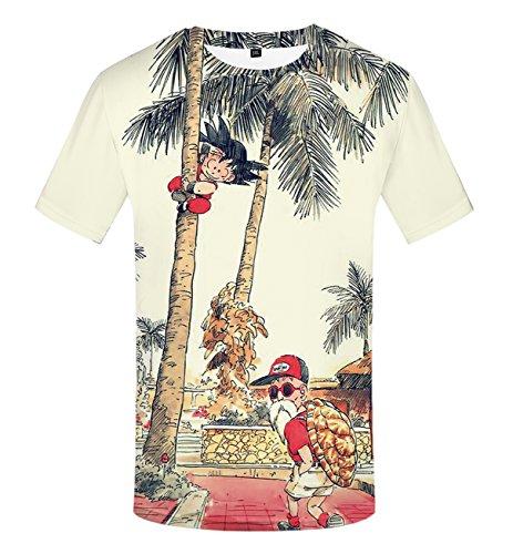 Camiseta de Verano de los Hombres 3D Divertidos Dibujos Animados Tops