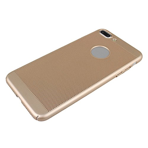 Coque iPhone 7 Plus, iPhone 7 Plus Case, Rosa Schleife Dure PC Mince Case Fini Mat Coque Housse de Protection Hard Shell Etui Plastique Case pour Apple iPhone 7 Plus Smartphone -Rouge Or