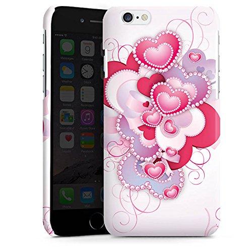 Apple iPhone 4 Housse Étui Silicone Coque Protection C½ur luxe Amour Motif Cas Premium brillant