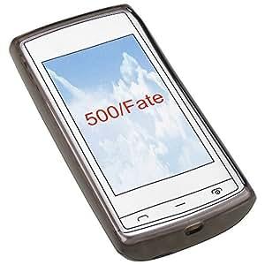 Transparent black Silicon Case Handy Schutz Hülle Tasche für Nokia 500 Fate