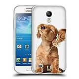 Head Case Designs Jeune Chiot Écoutant Musique Animaux Drôles Coque en Gel Doux Compatible avec Samsung Galaxy S4 Mini I9190