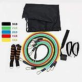 Jacobssen 11pcs Multifunktions-Fitnessgeräte Set Sport Spannseil Übungsbänder, Multicolor