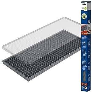 grille moustiquaire anti feuilles pour soupirail fen tre de cave 60x115cm m tal. Black Bedroom Furniture Sets. Home Design Ideas