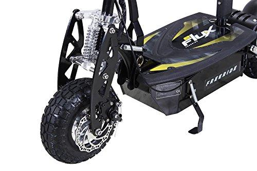E-Scooter Roller Original E-Flux Freeride 1000 Watt 48 V mit Licht und Freilauf Elektroroller E-Roller in vielen Farben (schwarz) - 6