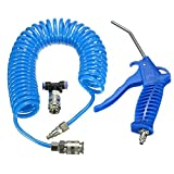 Docooler Air Duster + 5m Recoil Hose Truck Dust Blower Clean Nozzle Blow Spray Tool Kit