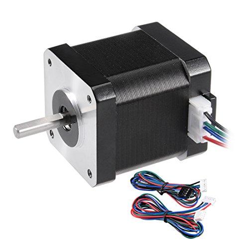 sourcing map Nema 42 Schrittmotor Bipolar 20mm/10mm 0.51NM 1.7A 4.3V f CNC 3D Drucker Router