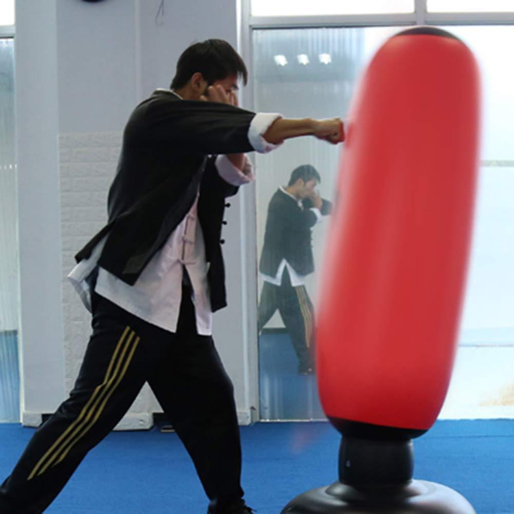 160CM Punching Ball Gonflable pour Adulte Enfants Sac De Boxe Gonflable Sac De Frappe Boxe sur Pied MMA Punching Ball pour Karat/é Fitness Sacs De Frappe Lourds