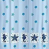 Tatkraft 4742943014435 Duschvorhang, textil polyester, mehrfarben, 35.20 x 20.8 x 2.8 cm