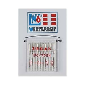 Original W6 Wertarbeit Nähmaschinenadel 130 / 705 H Webware 70-100 Sortiment 10 Stück