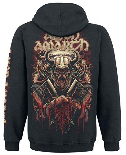 Amon Amarth Viking Sweat à capuche zippé noir Noir
