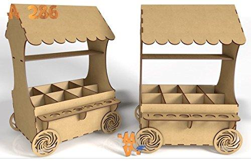Kit para hacer carrito de chuches de madera DM para candy bar...