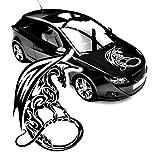 Drachen Aufkleber Motorhaube Cartattoo chinesicher Drachen Fabelwesen Sticker Dragon |KB226