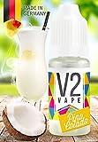 V2 Vape E-Liquid Pina Colada - Luxury Liquid für E-Zigarette und E-Shisha Made in Germany aus natürlichen Zutaten 10ml 0mg nikotinfrei