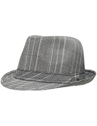 95cb1835b32 Mens Prince Of Wales Tweed Trilby Fedora Hat in Light Grey