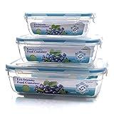 RQLM Frischhaltedosen-Luftdichte Deckel-Lagerung, 100% Auslaufsichere Kunststoff Vorratsdosen FüR KüHlschrank-Nahrungsmittelspeicher,3Pcs