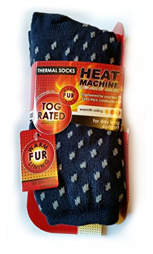 heat-machine-mens-thermal-socks-with-warm-fur-lining-inspirational-magnet-grey-spots-on-blue