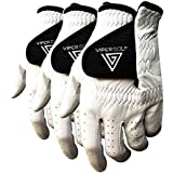 Viper Golf All Weather Golf Glove - Right Hand (For Lefty Golfer) - WHITE (Pack of 3 Gloves)