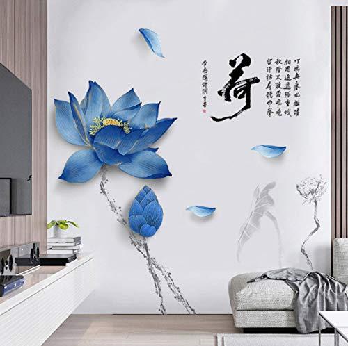 Lotus Blume Wanddekoration Aufkleber Diy Chinesischen Stil Dating Poster Vintage Home Decoration Aufkleber