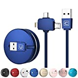 Best Cable And Case Friend Galaxy S4 And S5 Cases - CAFELE Retractable Charging USB Cable, iP & Micro Review