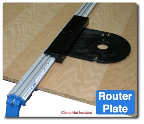 Emerson Tool (XRP 8-Inch by 9-Inch Router Plate, Black by E. Emerson Tool Co)