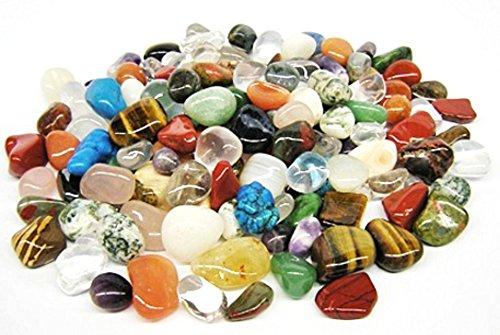 1kg bunte Trommelstein Mischung aus echten Edelsteinen ca. 130 bis 150 Steine